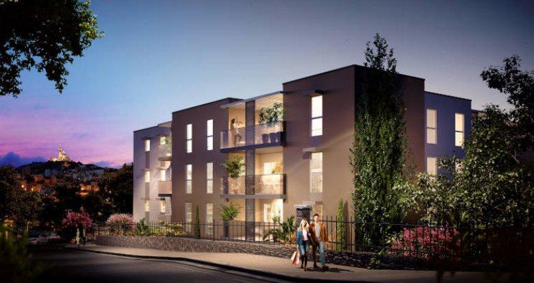 Achat / Vente immobilier neuf Marseille 10 sur les hauteurs de Saint Loup (13010) - Réf. 6041