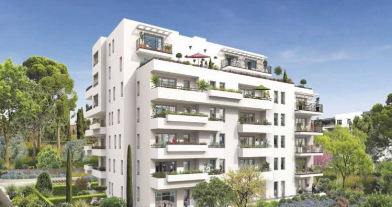 Achat / Vente immobilier neuf Marseille 11 au cœur d'un parc privé (13011) - Réf. 3466