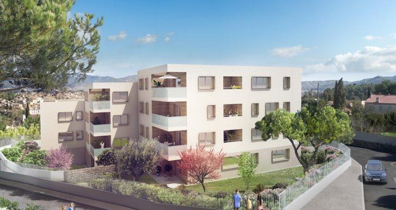 Achat / Vente immobilier neuf Marseille 13 Les Hauts Comtesse (13013) - Réf. 2367