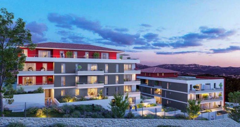 Achat / Vente immobilier neuf Marseille les 3 Lucs résidence intimiste (13012) - Réf. 5724