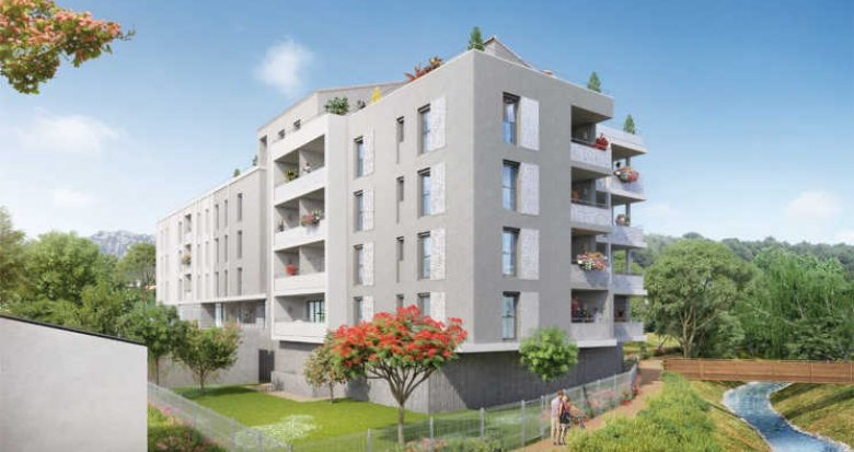 Achat / Vente immobilier neuf Roquevaire au bord de l'Huveaune (13360) - Réf. 2626